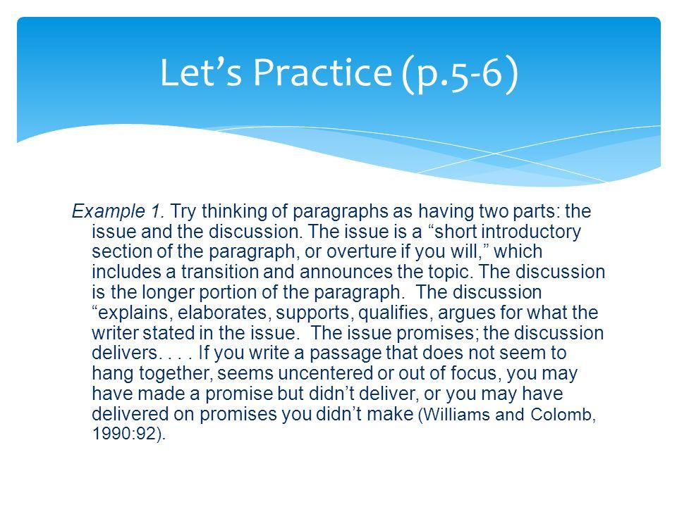 Let's Practice (p.5-6) Example 1.