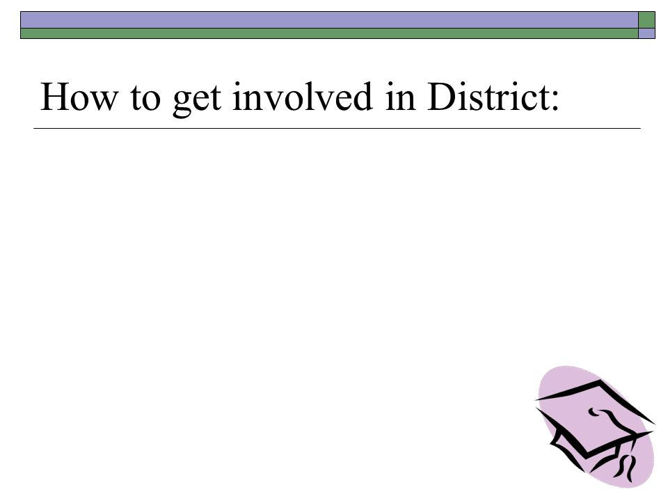 How to get involved in District: