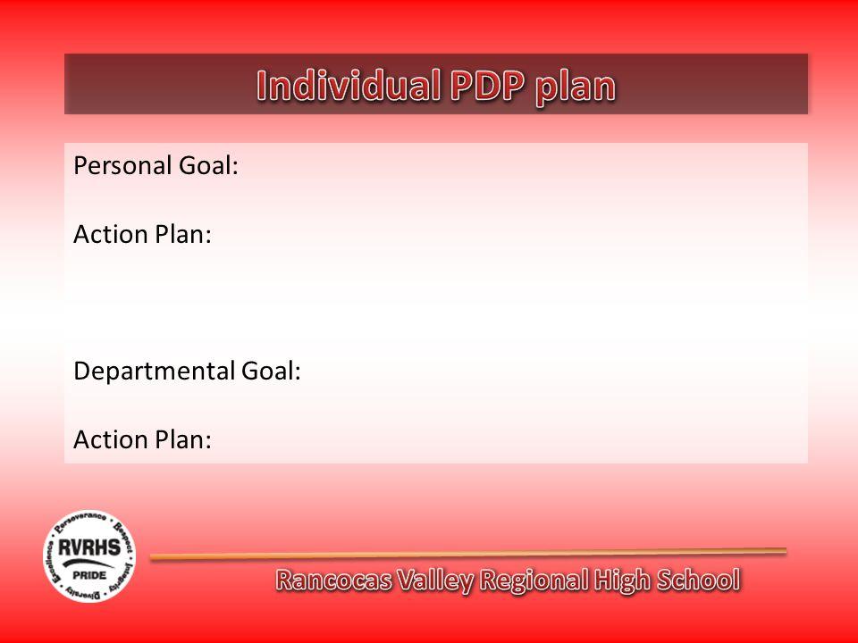 Personal Goal: Action Plan: Departmental Goal: Action Plan: