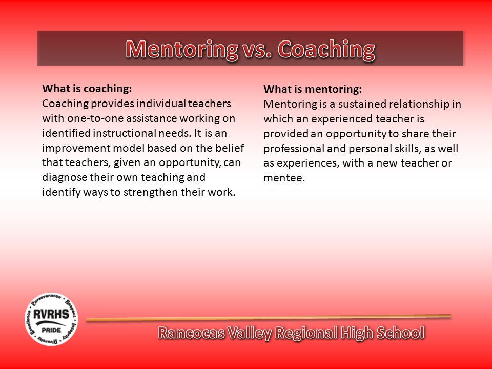 What is coaching: Coaching provides individual teachers with one-to-one assistance working on identified instructional needs.