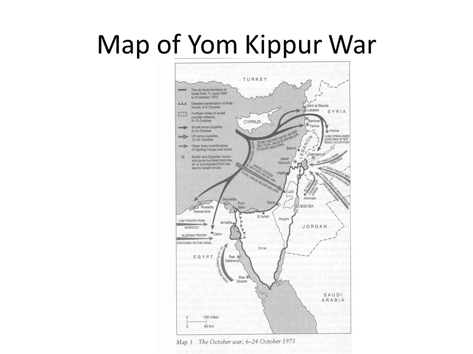 Map of Yom Kippur War