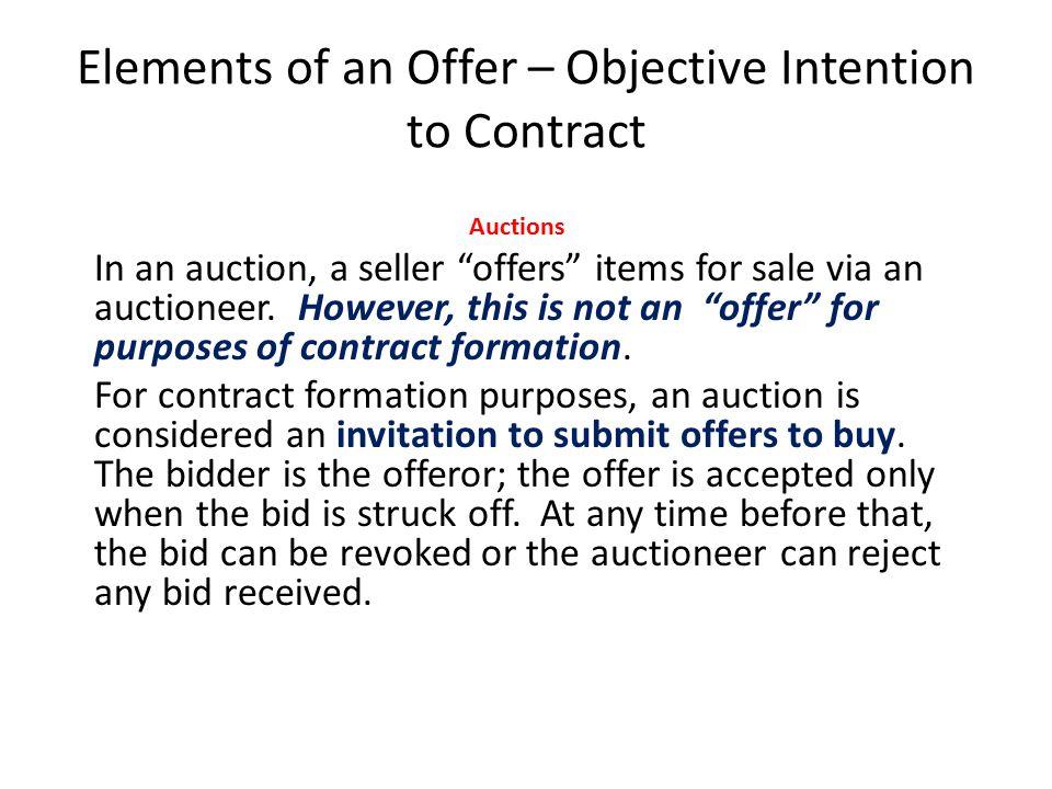 Auction Example Mr.Martinez puts up his Ferrari for sale at auction.