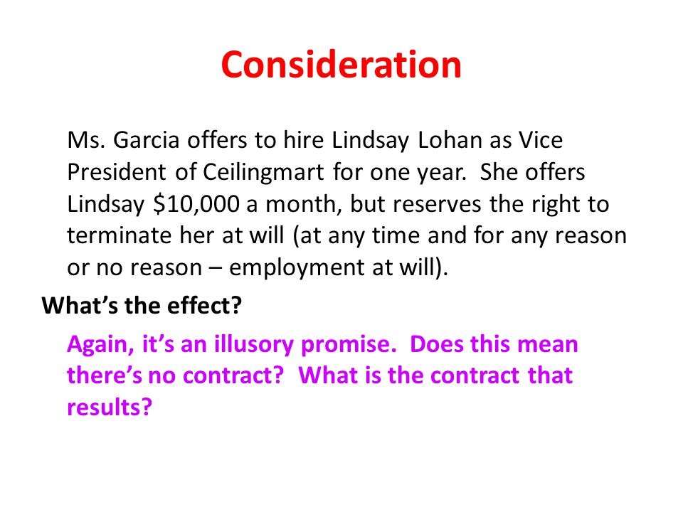 Consideration Ms.