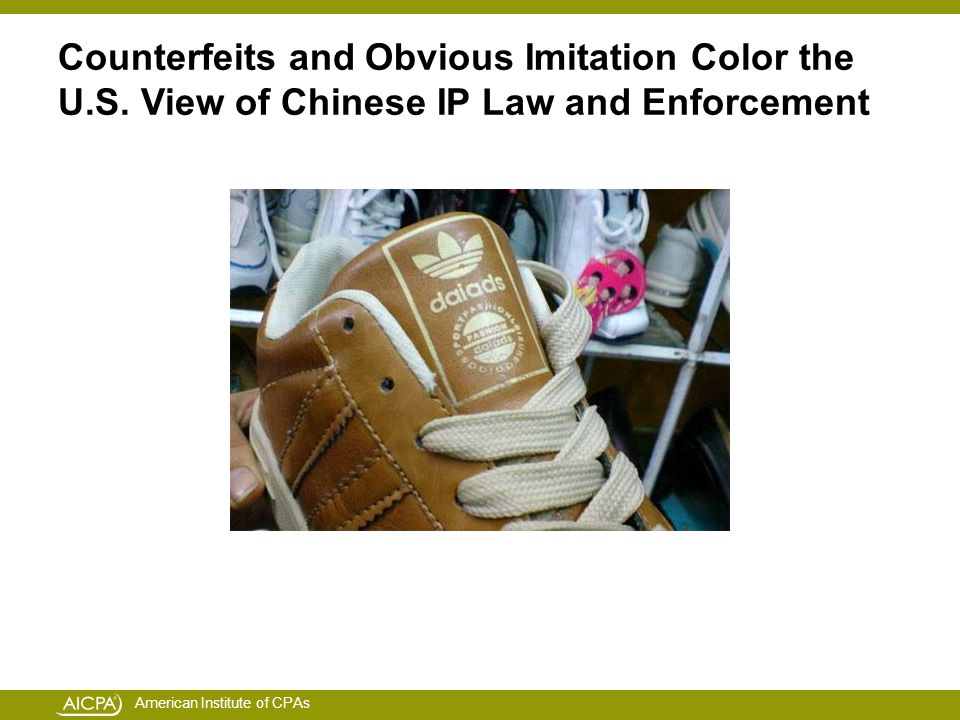American Institute of CPAs Counterfeits and Obvious Imitation Color the U.S.