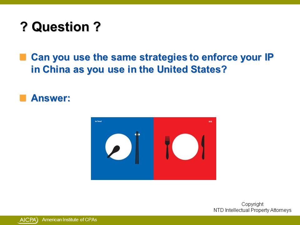 American Institute of CPAs . Question .