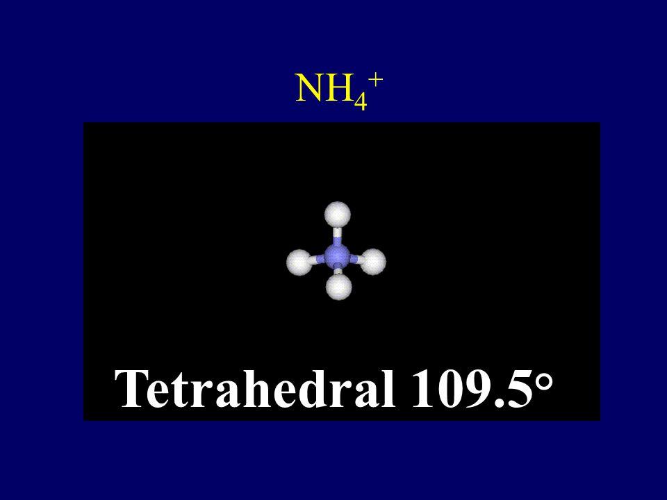 CF 2 Cl 2 Tetrahedral 109.5 °