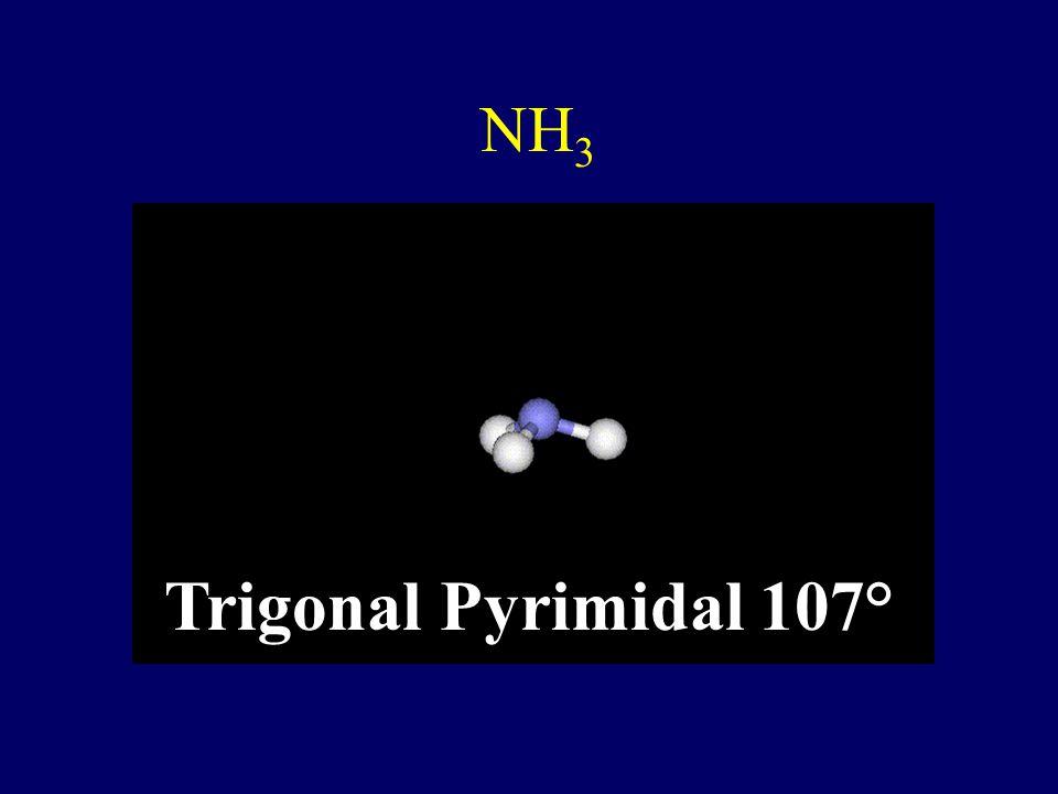 SO 4 2- Tetrahedral 109.5 °