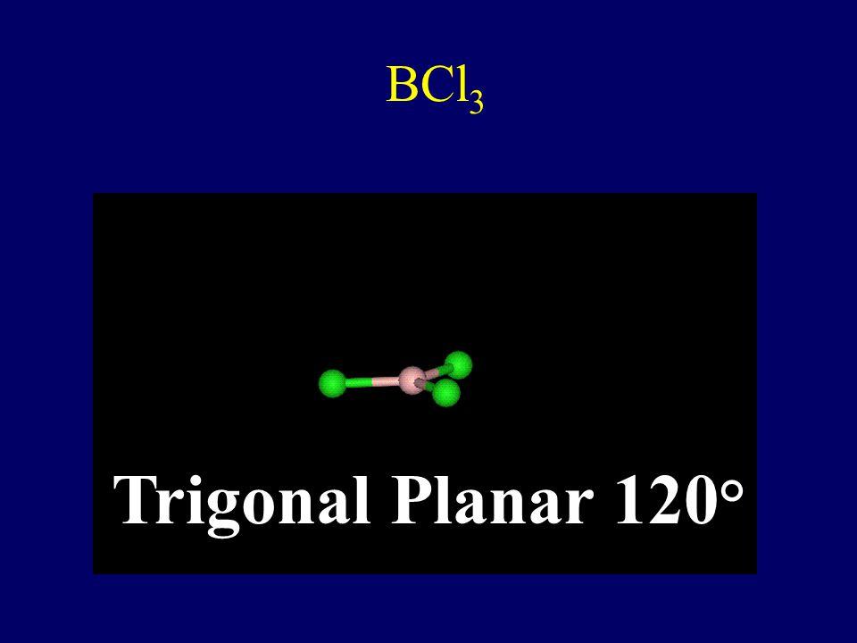 CH 4 Tetrahedral 109.5 °