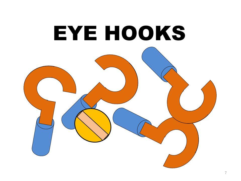 7 EYE HOOKS