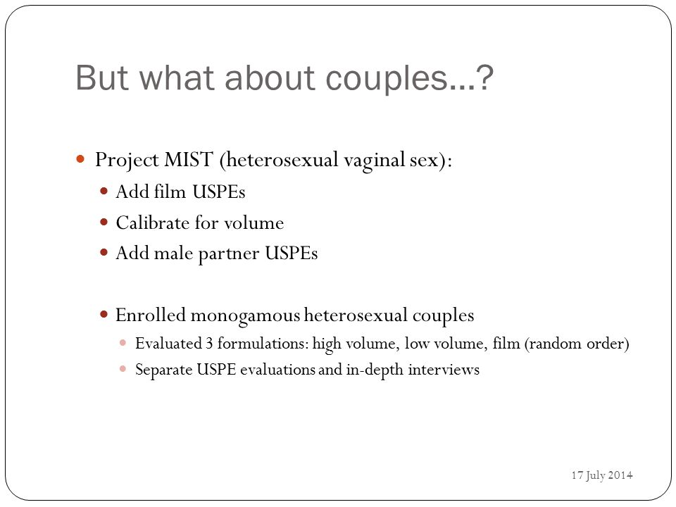 But what about couples….