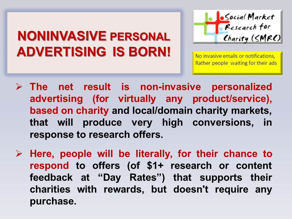 NONINVASIVE PERSONAL ADVERTISING IS BORN.