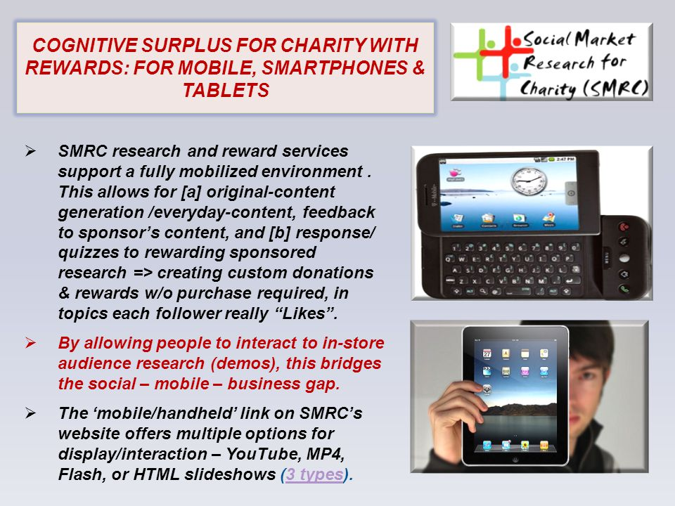 For more information see: www.socialmarketresearchforc harity.