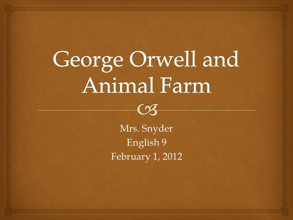  Who Was George Orwell.