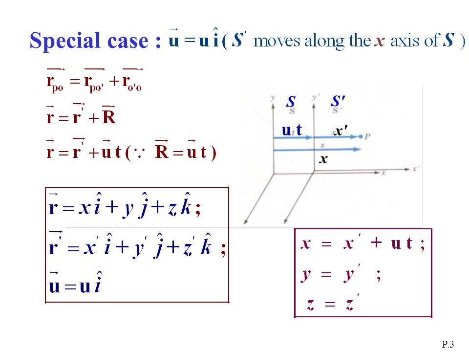 Special case : P.3 x x x u t S S S