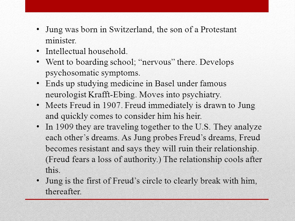 Jung's theory of Personality (Psyche) Tripartite: Consciousness (Ego), Individual Unconscious, Collective (Universal) Unconscious The Ego (Conscious) is everything of which you are presently aware and can manipulate.