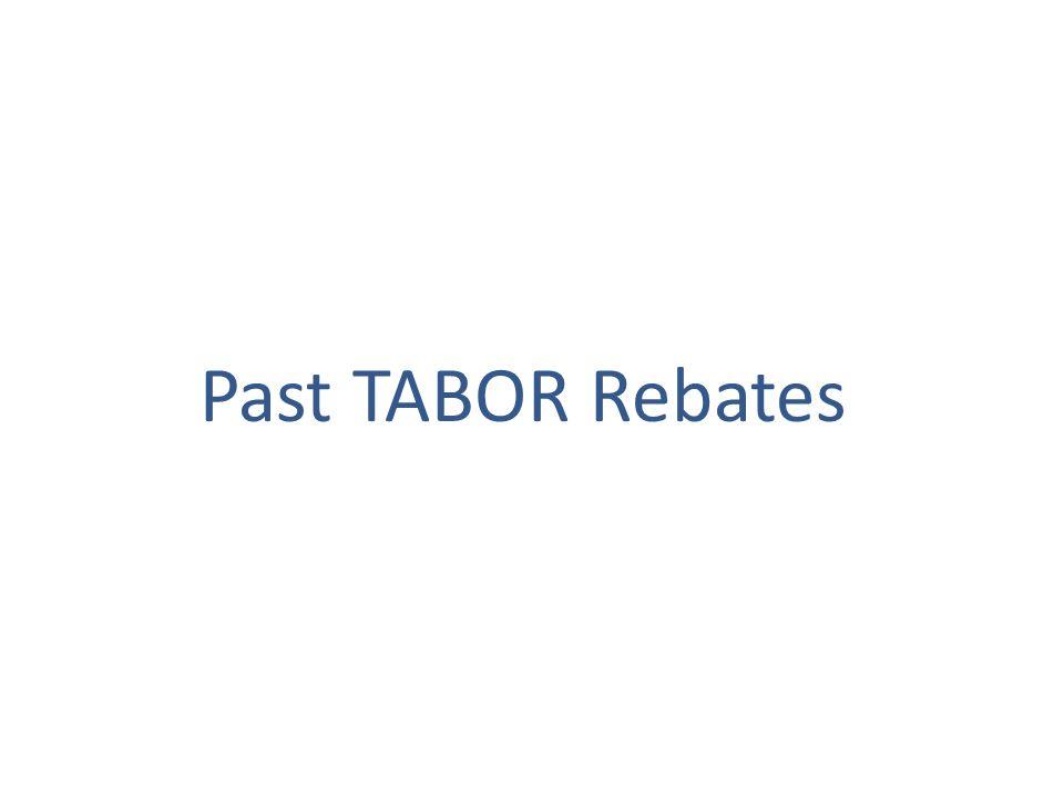 Past TABOR Rebates