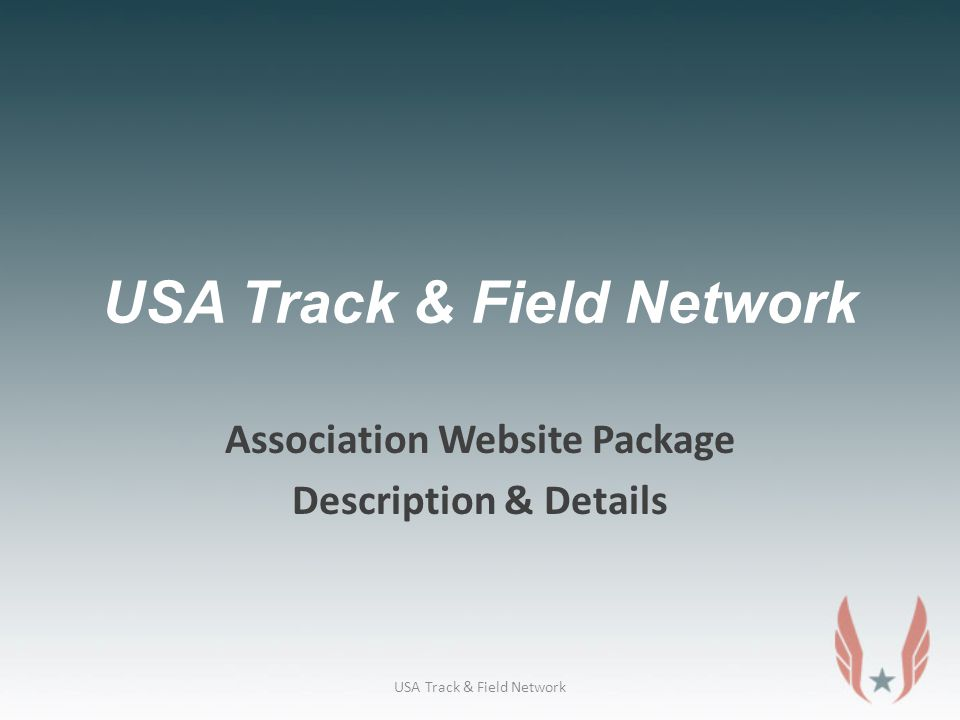 USA Track & Field Network Association Website Package Description & Details USA Track & Field Network