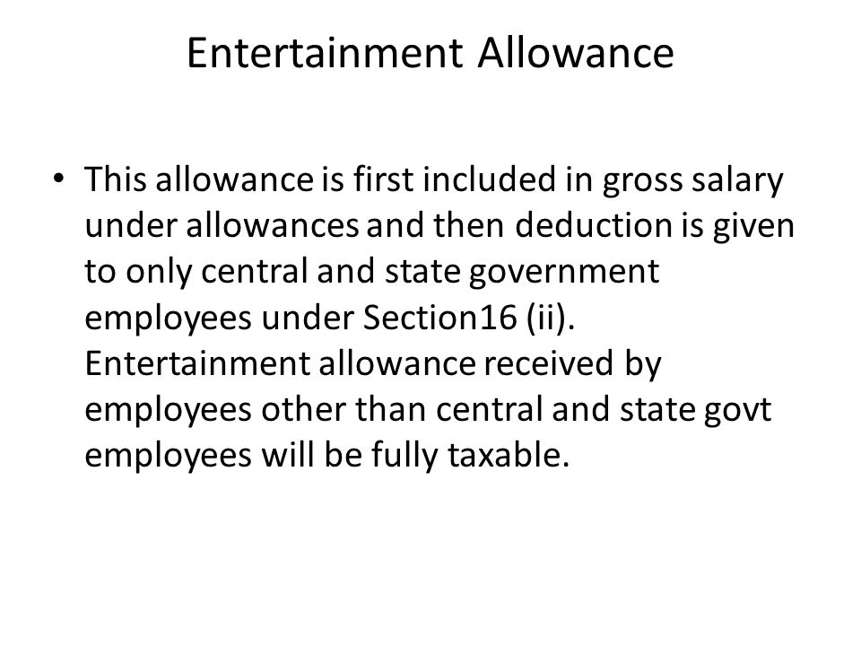 Special Allowances for meeting official expenditure Certain allowances are given to the employees to meet expenses incurred exclusively in performance of official duties and hence are exempt to the extent actually incurred for the purpose for which it is given.