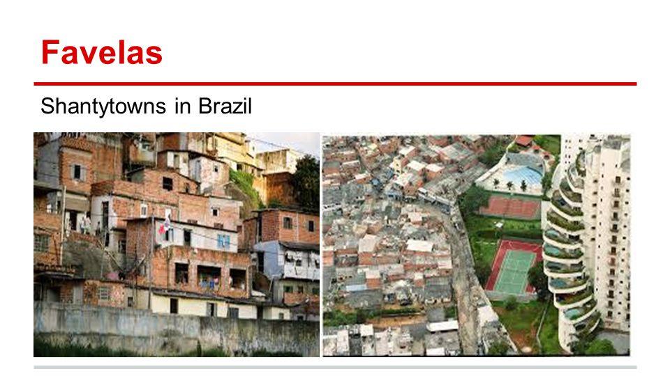 Favelas Shantytowns in Brazil