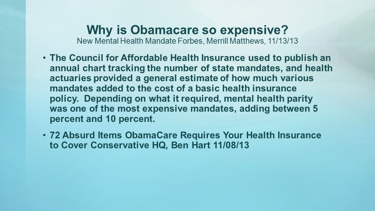 Why is Obamacare so expensive.
