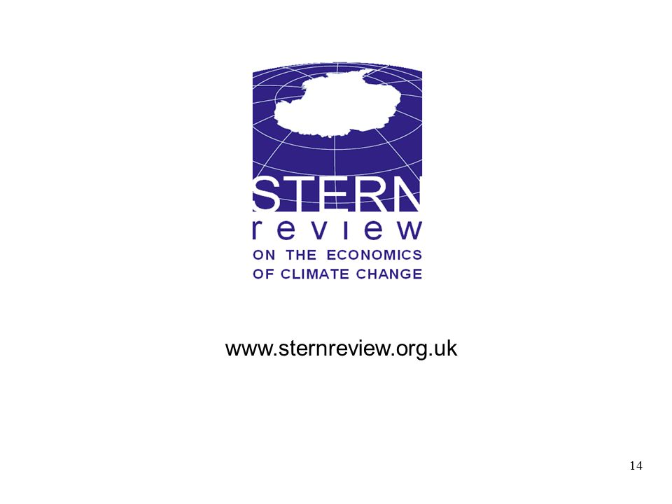 14 www.sternreview.org.uk