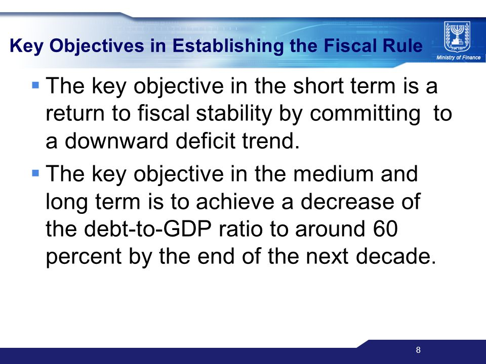 9 Reasons for Reduction of the Debt-to-GDP Ratio Gross Public Debt percent of GDP, estimates 2008* *Source: OECD, November 2008, Israel: MoF