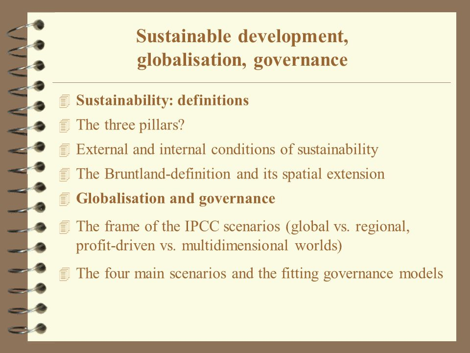 4 Sustainability: definitions 4 The three pillars.