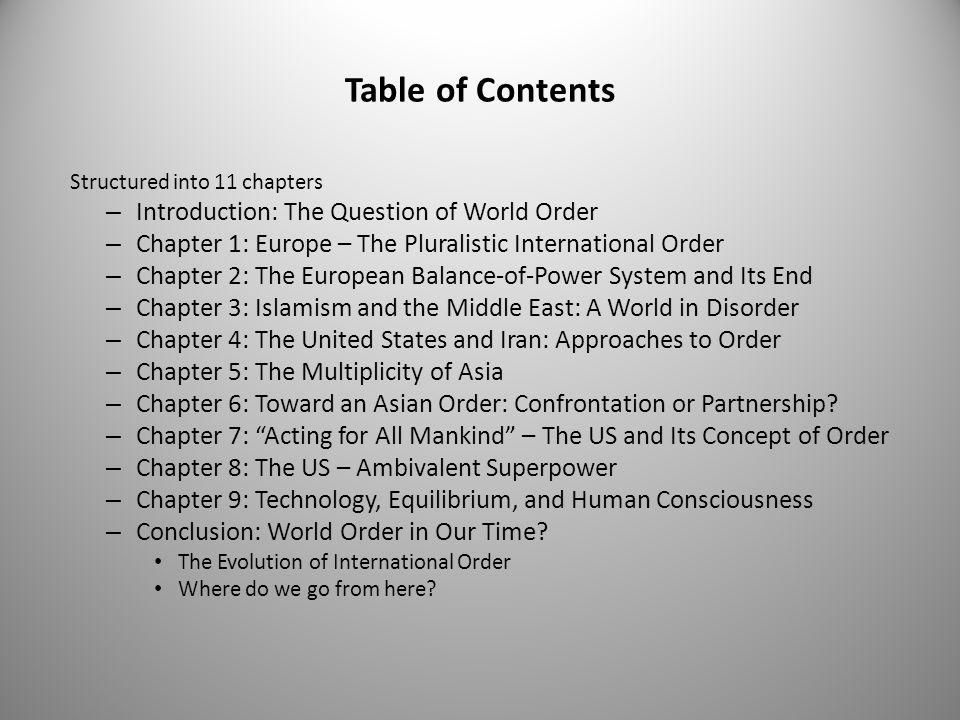How do new technologies affect world order.