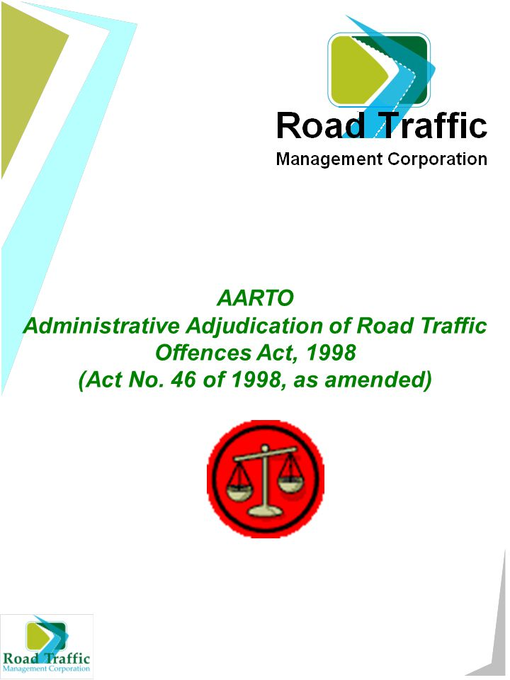 AARTO Administrative Adjudication of Road Traffic Offences Act, 1998 (Act No.