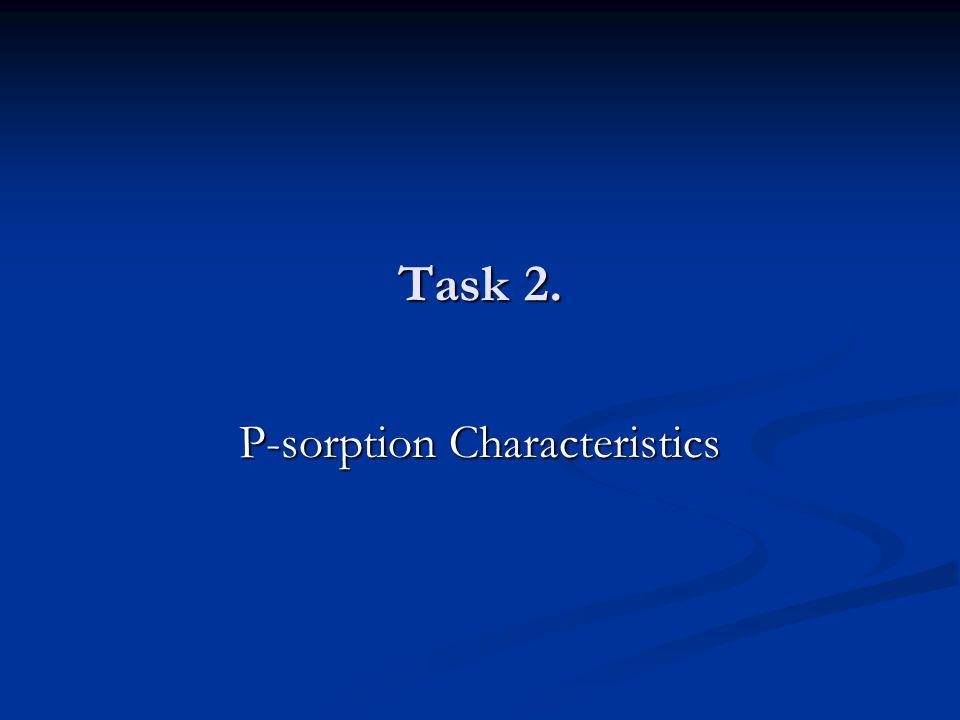 Task 2. P-sorption Characteristics