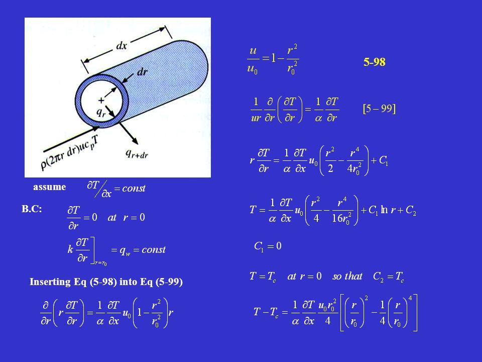 assume B.C: Inserting Eq (5-98) into Eq (5-99) 5-98