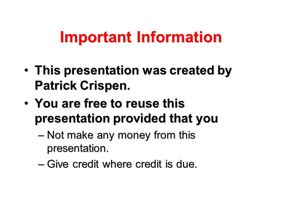 Computer Care 101: Keeping Your Computer Healthy a presentation by Patrick Douglas Crispen