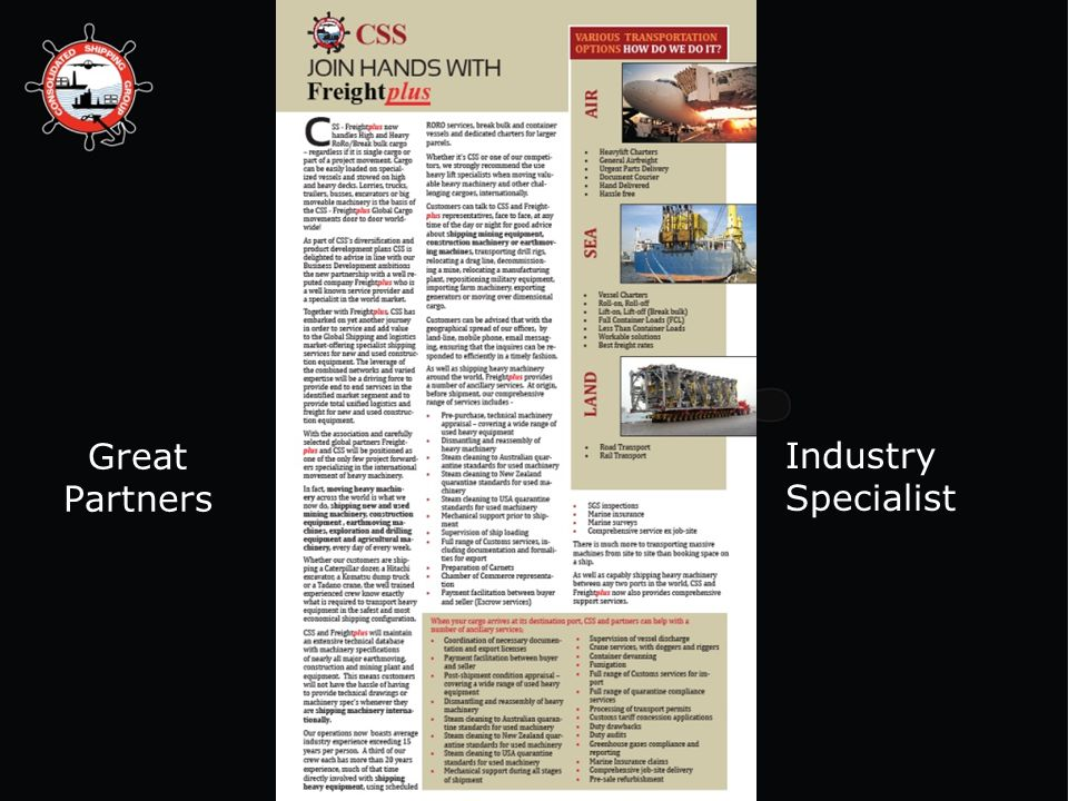 Great Partners Industry Specialist