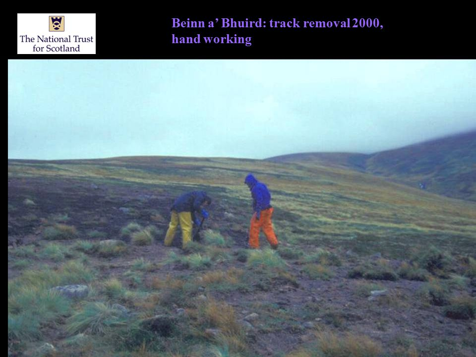 Beinn a' Bhuird: track removal 2000, hand working