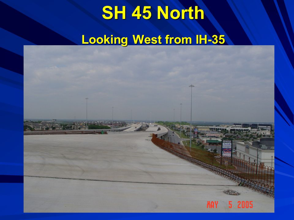 SH 45 North Looking West from IH-35