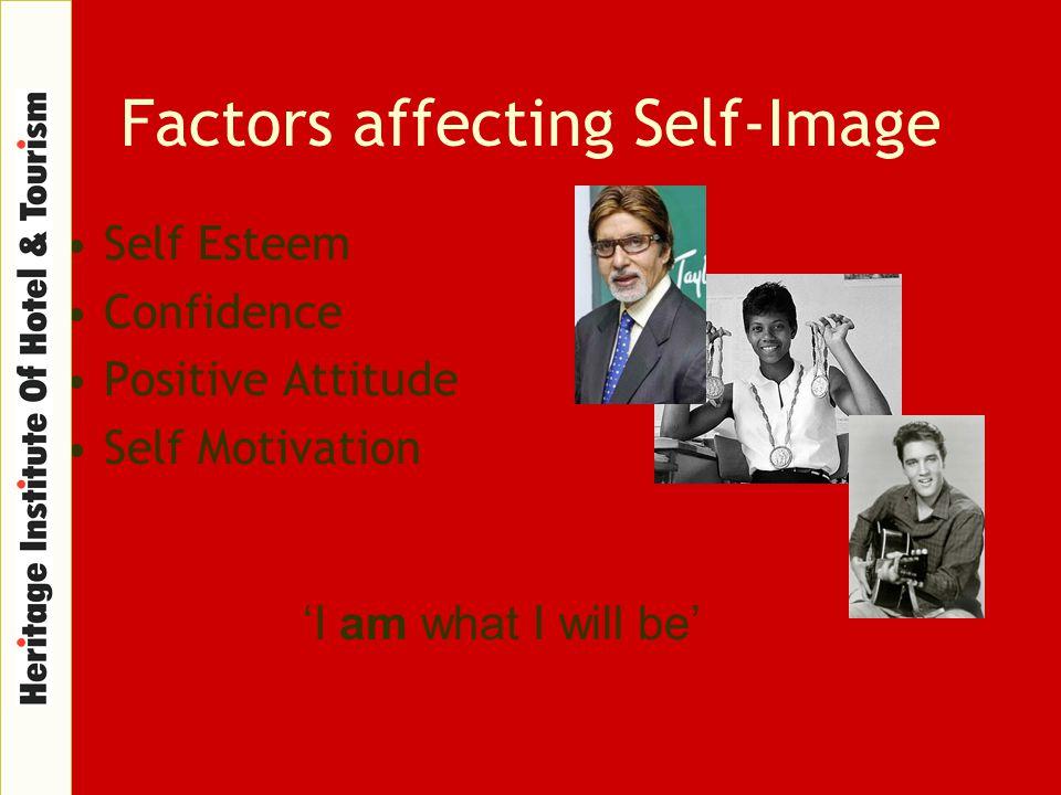 Factors affecting Self-Image Self Esteem Confidence Positive Attitude Self Motivation 'I am what I will be'