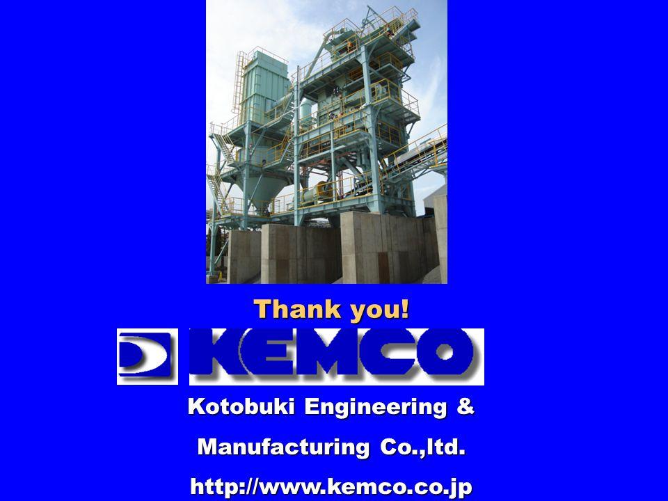 Thank you! Kotobuki Engineering & Manufacturing Co.,ltd. http://www.kemco.co.jp