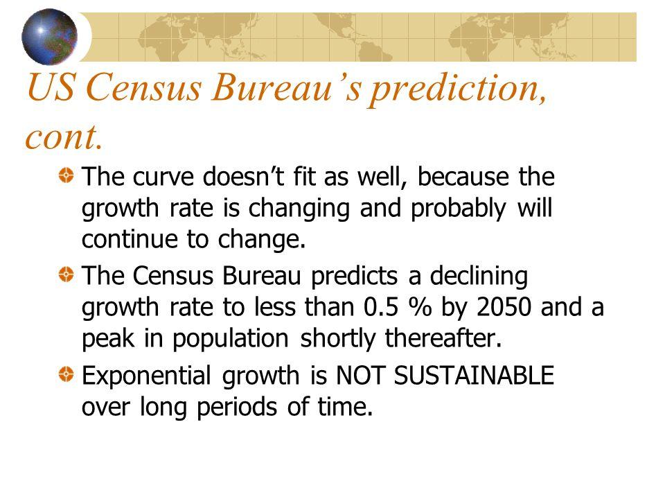 US Census Bureau's prediction, cont.