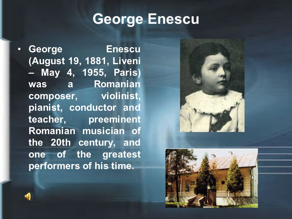 Biography He was born in the village of Liveni, Romania and showed musical talent from early in his childhood.