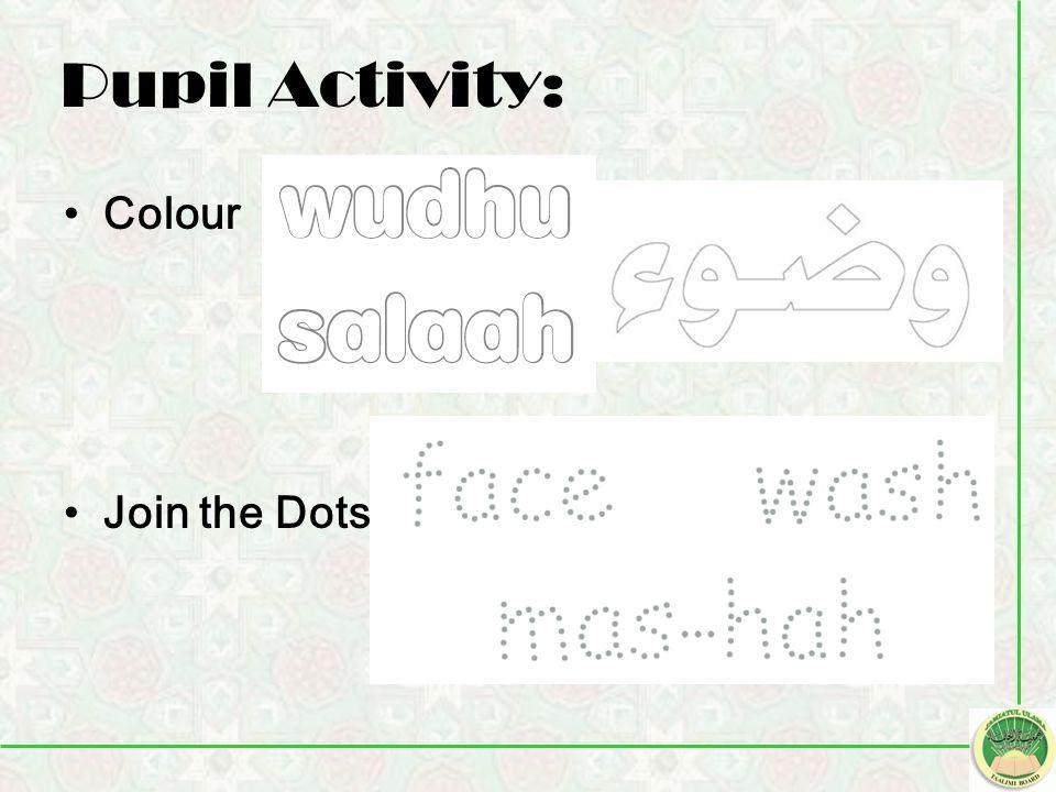 Pupil Activity: Colour Join the Dots