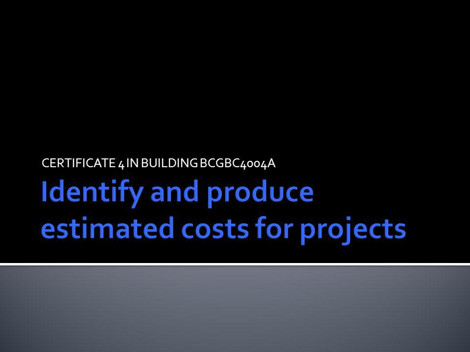 CERTIFICATE 4 IN BUILDING BCGBC4004A