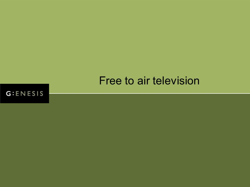 Free to air television