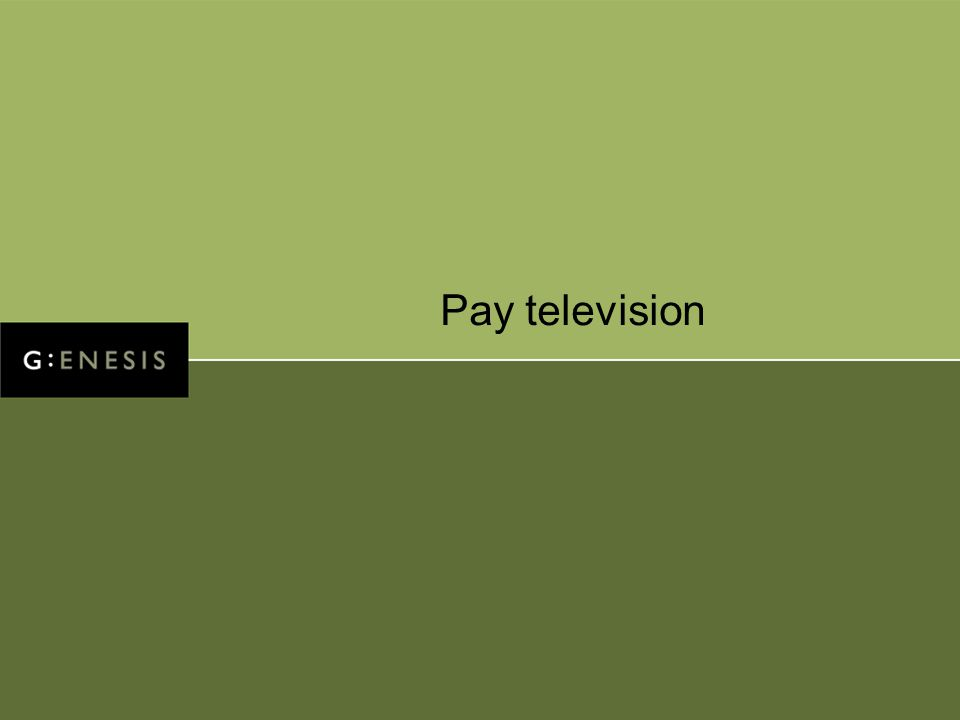 Pay television