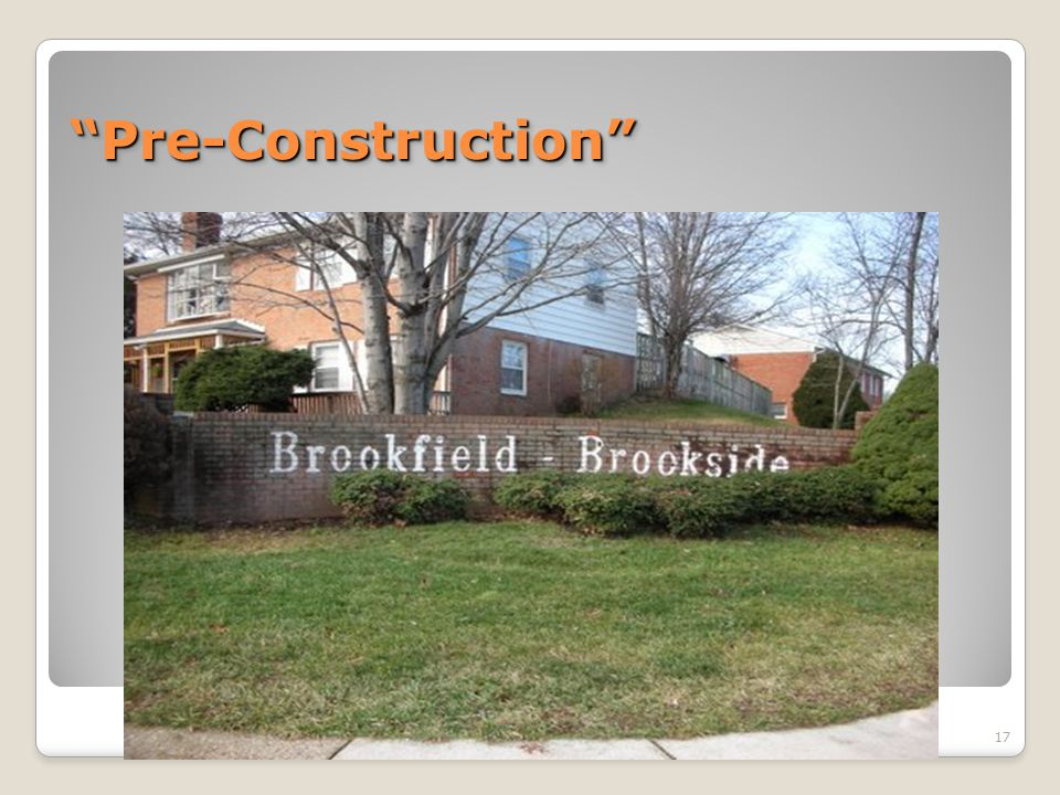 Pre-Construction Pre-Construction 17