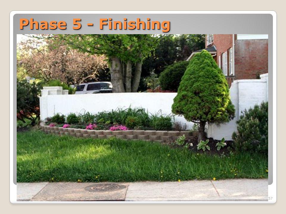 Phase 5 - Finishing 57