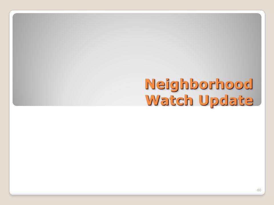 Neighborhood Watch Update 60