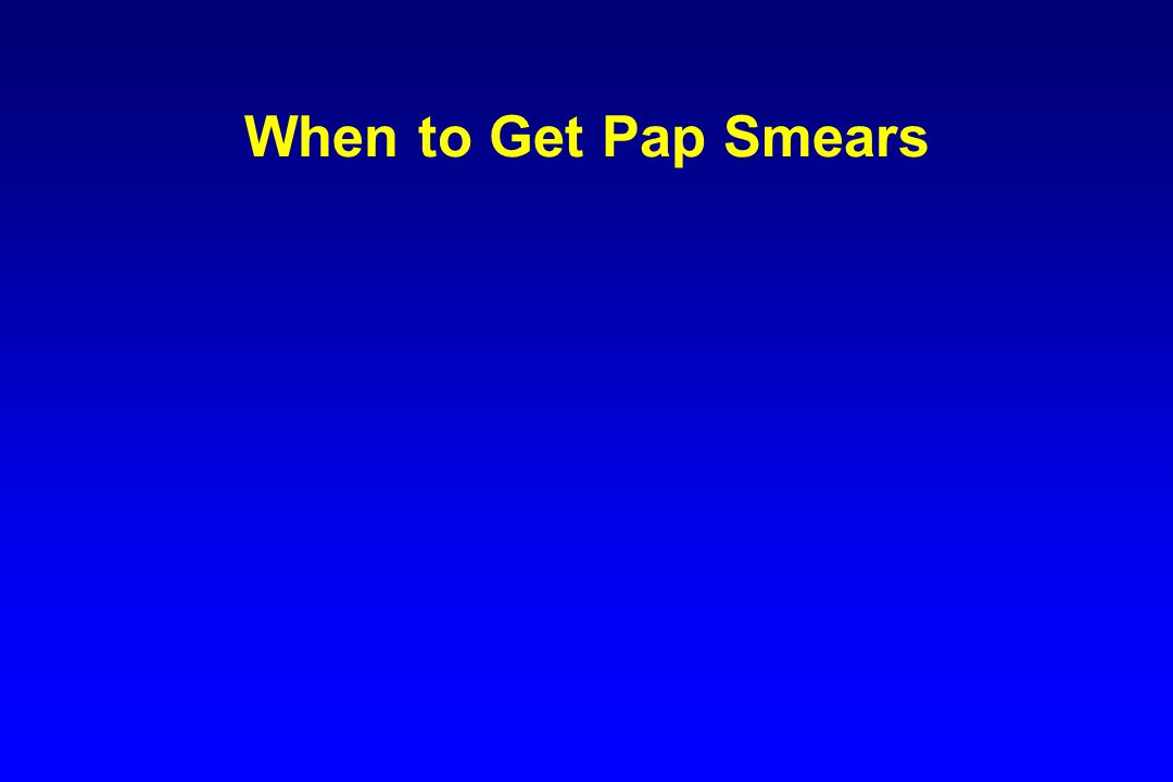 When to Get Pap Smears