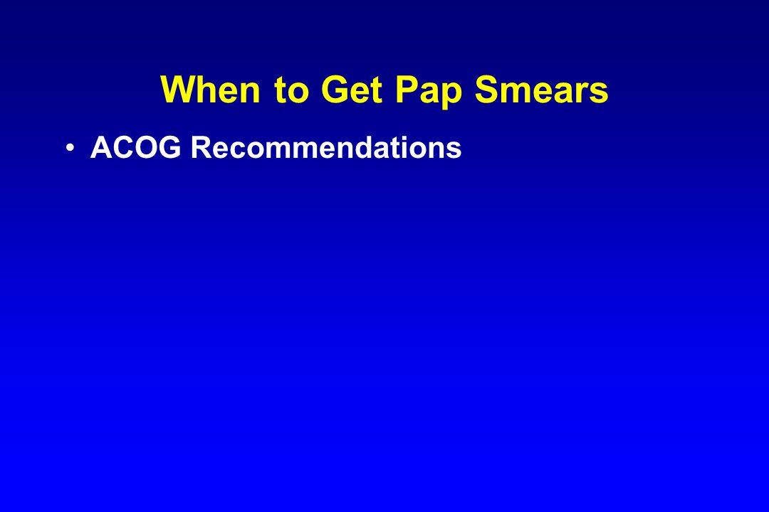 ACOG Recommendations