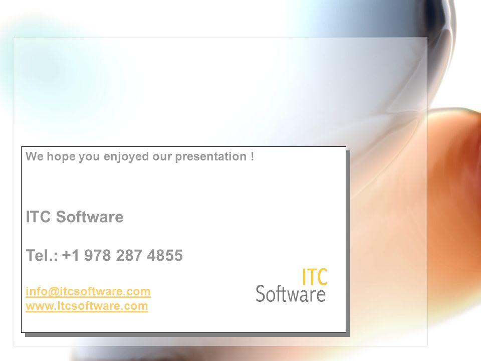 We hope you enjoyed our presentation .