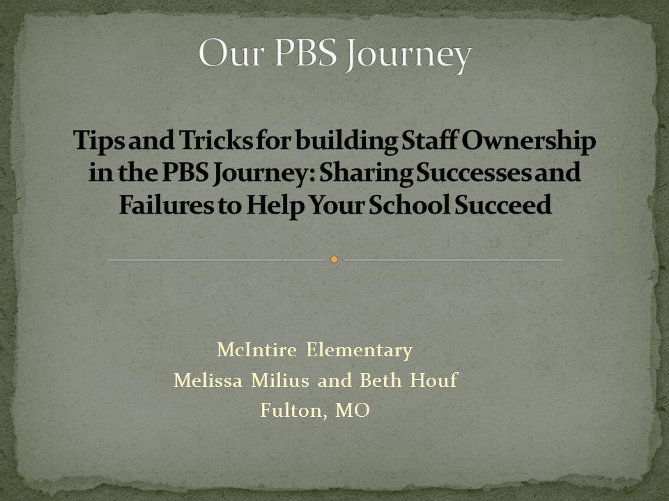 McIntire Elementary Melissa Milius and Beth Houf Fulton, MO